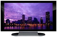 "27"" TV Prop Plasma-LED Flat Screen TV in Gloss Black on Matte Silver-XX Style Series with Baltimore at Night Screen"