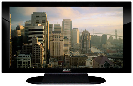 "52"" TV Prop Plasma-LED Flat Screen TV in Gloss Black on Matte Black-XX Style Series with San Francisco Screen"