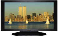 "27"" TV Prop Plasma-LED Flat Screen TV in Matte Black-XX Style Series with Sail Boats in New York City Screen"