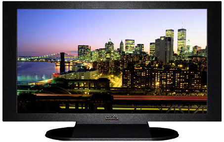 "47"" TV Prop Plasma-LED Flat Screen TV in Matte Black-XX Style Series with New York City at Night Screen"