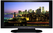"27"" TV Prop Plasma-LED Flat Screen TV in Matte Black-XX Style Series with New York City at Night Screen"