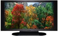 "27"" TV Prop Plasma-LED Flat Screen TV in Matte Black-XX Style Series with Autumn Trees Screen"