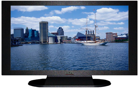 "47"" TV Prop Plasma-LED Flat Screen TV in Matte Black-XX Style Series with Chesapeake Bay Screen"