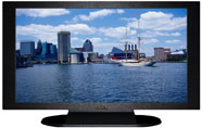 "27"" TV Prop Plasma-LED Flat Screen TV in Matte Black-XX Style Series with Chesapeake Bay Screen"