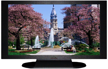 "47"" TV Prop Plasma-LED Flat Screen TV in Matte Black-XX Style Series with Fountain in the Park Screen"