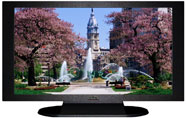 "27"" TV Prop Plasma-LED Flat Screen TV in Matte Black-XX Style Series with Fountain in the Park Screen"