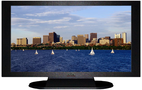 "47"" TV Prop Plasma-LED Flat Screen TV in Matte Black-XX Style Series with Massachusetts Bay in Boston Screen"