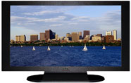 "27"" TV Prop Plasma-LED Flat Screen TV in Matte Black-XX Style Series with Massachusetts Bay in Boston Screen"
