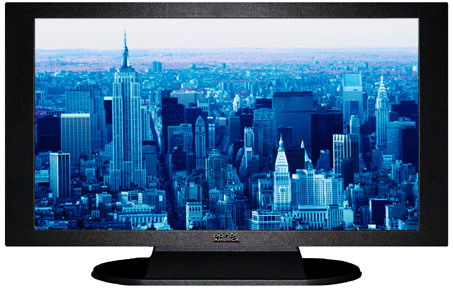 "47"" TV Prop Plasma-LED Flat Screen TV in Matte Black-XX Style Series with Blue Manhattan Screen"
