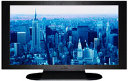 "27"" TV Prop Plasma-LED Flat Screen TV in Matte Black-XX Style Series with Blue Manhattan Screen"