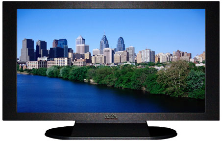 "47"" TV Prop Plasma-LED Flat Screen TV in Matte Black-XX Style Series with Philadelphia Screen"