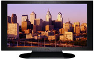 "27"" TV Prop Plasma-LED Flat Screen TV in Matte Black-XX Style Series with Philadelphia at Sunset Screen"