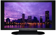 "27"" TV Prop Plasma-LED Flat Screen TV in Matte Black-XX Style Series with Baltimore at Night Screen"