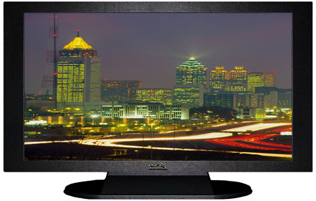 "47"" TV Prop Plasma-LED Flat Screen TV in Matte Black-XX Style Series with Atlanta at Night Screen"