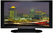 "27"" TV Prop Plasma-LED Flat Screen TV in Matte Black-XX Style Series with Atlanta at Night Screen"