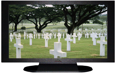 "47"" TV Prop Plasma-LED Flat Screen TV in Matte Black-XX Style Series with Fallen Heroes Screen"
