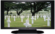 "27"" TV Prop Plasma-LED Flat Screen TV in Matte Black-XX Style Series with Fallen Heroes Screen"