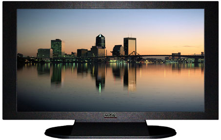 "47"" TV Prop Plasma-LED Flat Screen TV in Matte Black-XX Style Series with Jacksonville at Dusk Screen"