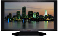 "27"" TV Prop Plasma-LED Flat Screen TV in Matte Black-XX Style Series with Miami at Dusk Screen"