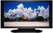 "27"" TV Prop Plasma-LED Flat Screen TV in Matte Black-XX Style Series with Life in South Beach Screen"