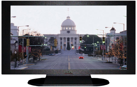 "47"" TV Prop Plasma-LED Flat Screen TV in Matte Black-XX Style Series with Holiday Lights in Birmingham Screen"