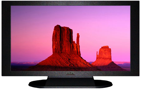 "52"" TV Prop Plasma-LED Flat Screen TV in Matte Black-XX Style Series with The Mittens Screen"
