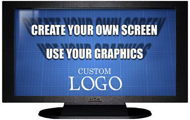 47 Inch TV Prop Plasma LED Flat Screen in Matte Black with Custom Screen Image