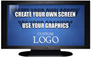 27 Inch TV Prop Plasma LED Flat Screen in Matte Black with Custom Screen Image