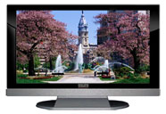 "52"" TV Prop LED HDTV Prop with Bottom Speaker in Gloss Black on Matte Silver-BB Style Series with Fountain in the Park Screen"