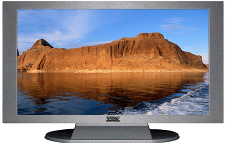 "52"" TV Prop Plasma-LED Flat Screen TV in Matte Silver-XX Style Series with Rock Formations in Utah Screen"