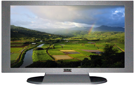 "52"" TV Prop Plasma-LED Flat Screen TV in Matte Silver-XX Style Series with Kauai Screen"