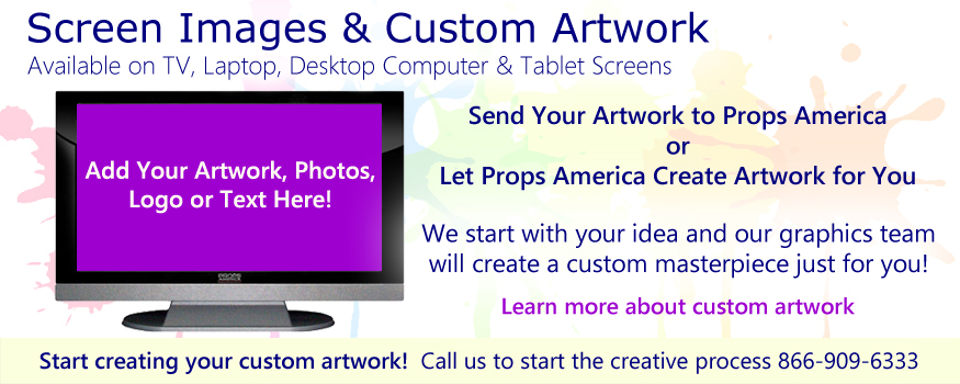 Custom & Stock Screen Images for Faux Prop TVs, FauxComputer Props, Faux Laptop Props & Fake Tablet Props